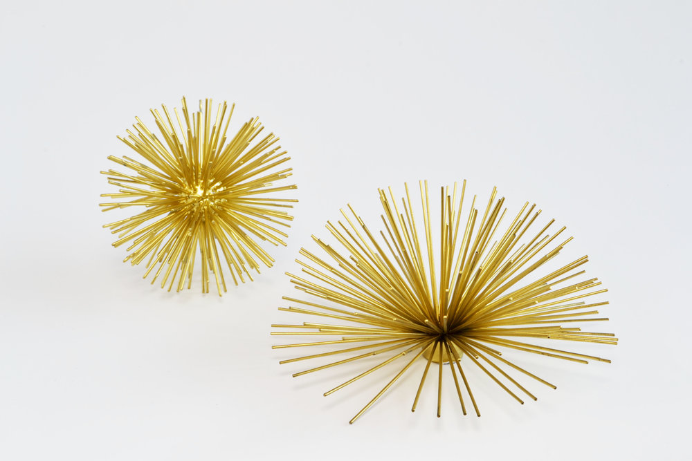 sea urchin - gold decor (small)   Quantity: 4  Price: $5.00