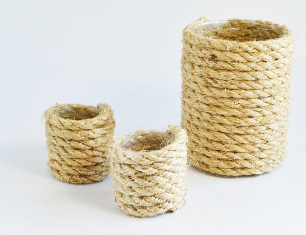 rope vase   Quantity: 4  Price: $6.50