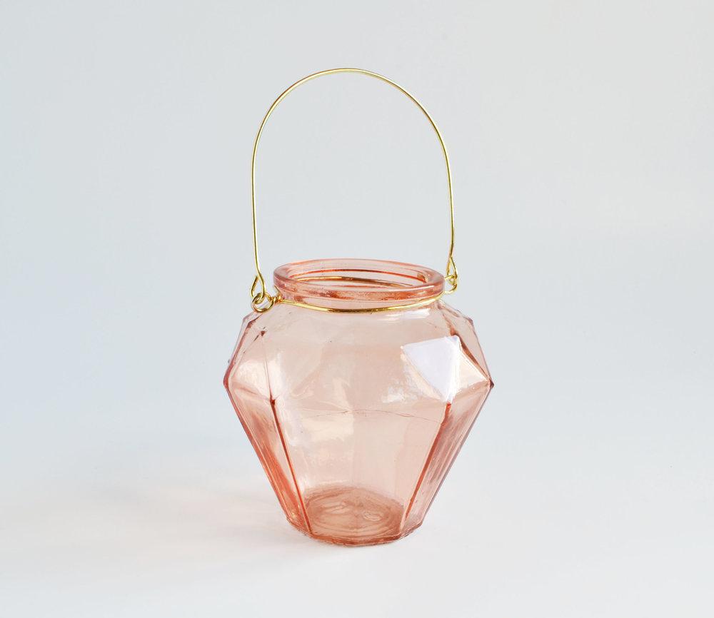 rose glass lantern/vase   Quantity: 18  Price: $5.50