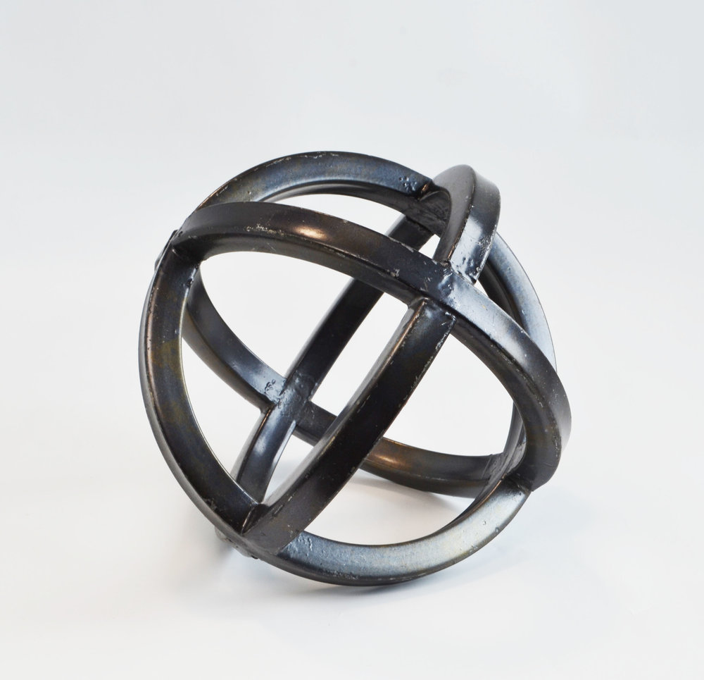 geometric sphere - black   Quantity: 3  Price: $6.50