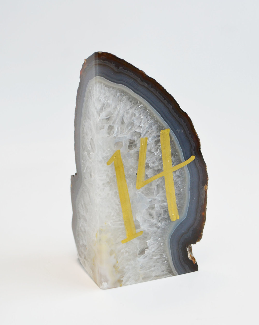 agate table number   Quantity: 14  Price: $10.00