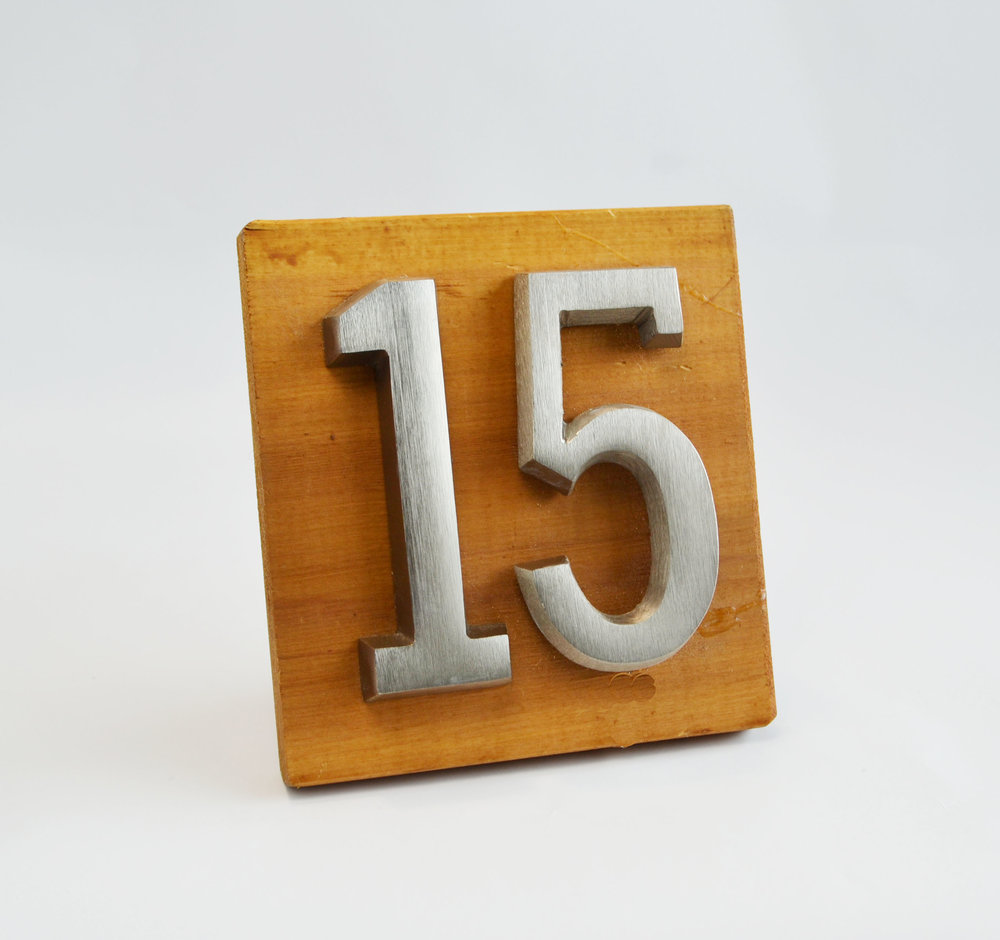silver table number - wood    Quantity:   Price: $8.50