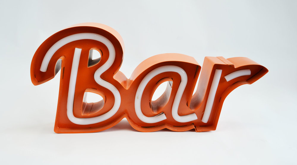 neon 'bar' sign - red   Quantity: 1  Price: $25.00