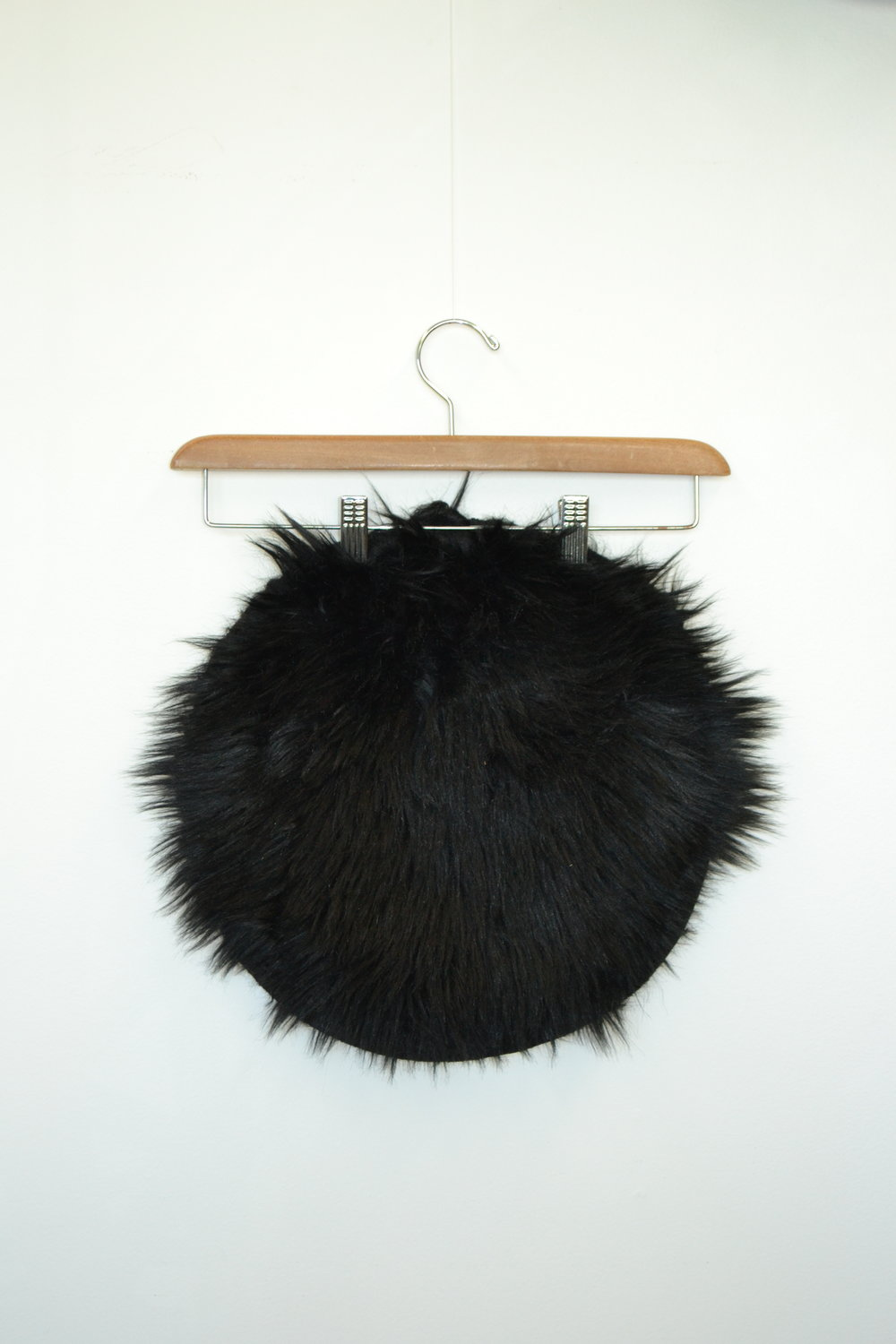 faux-fur stool cover - black   Quantity: 1  Price: $3.50