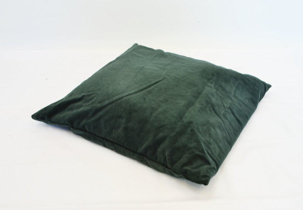 evergreen velvet pillow   Quantity: 3  Price: $10.00