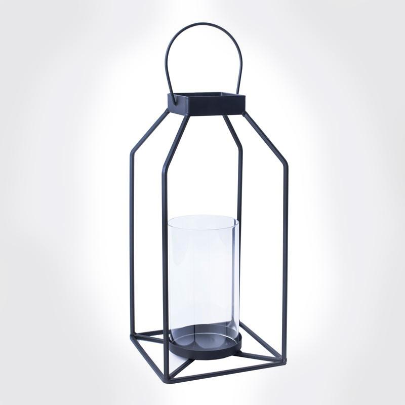 gage Lantern  Black metal + glass cylinder  Quantity: 10  Price: $15.00
