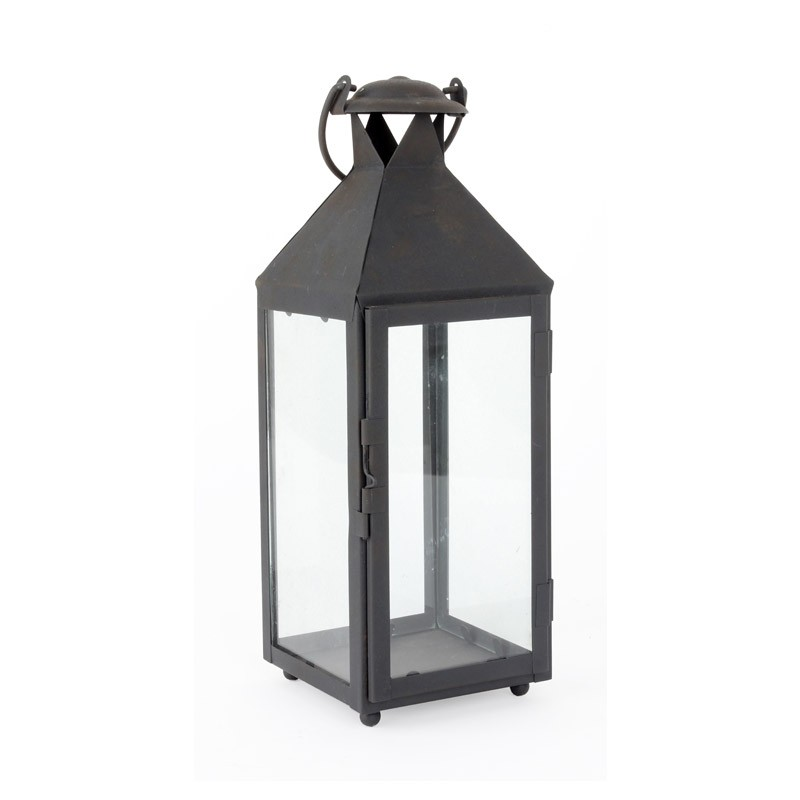 ross Lantern   black metal + glass  Quantity: (L) 14 - (m) 11 - (s) 18  Price: $15 - $10 - $8.50