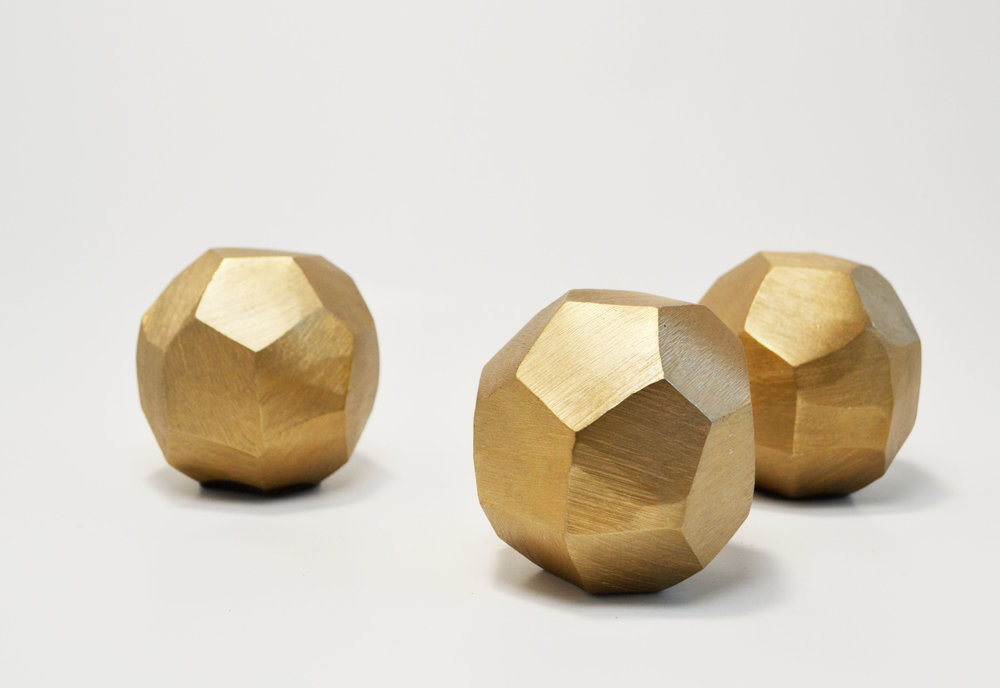 chiseled gold ball   Quantity: 24  Price: $5.50