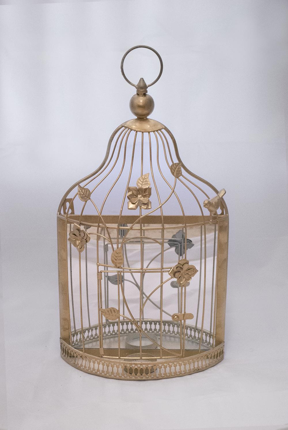 Flat Back / Gold birdcage mirror   Quantity: 4  Price: $17.00