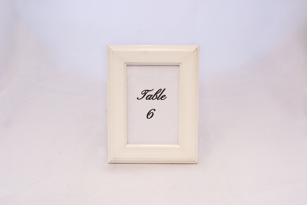 white frame 2 - table number   Quantity:  Price: