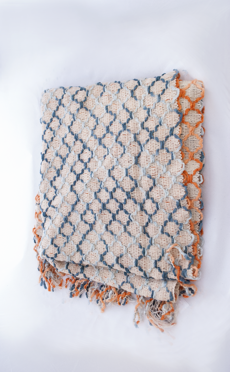 afghan throw - orange   Quantity: 2  Price: $5.50