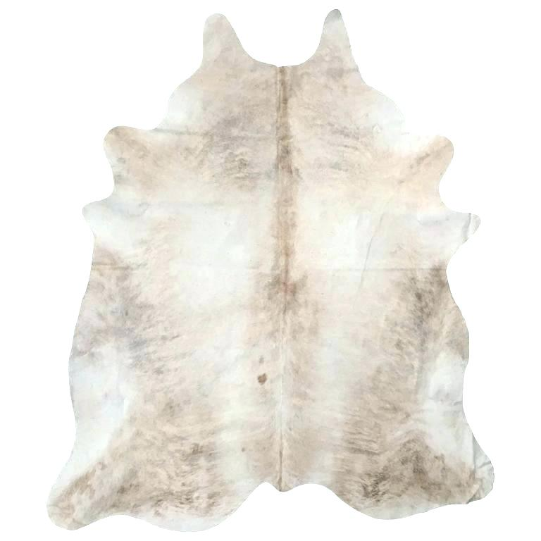 ivory cow hide rug   Quantity: 1  Price: $55.00