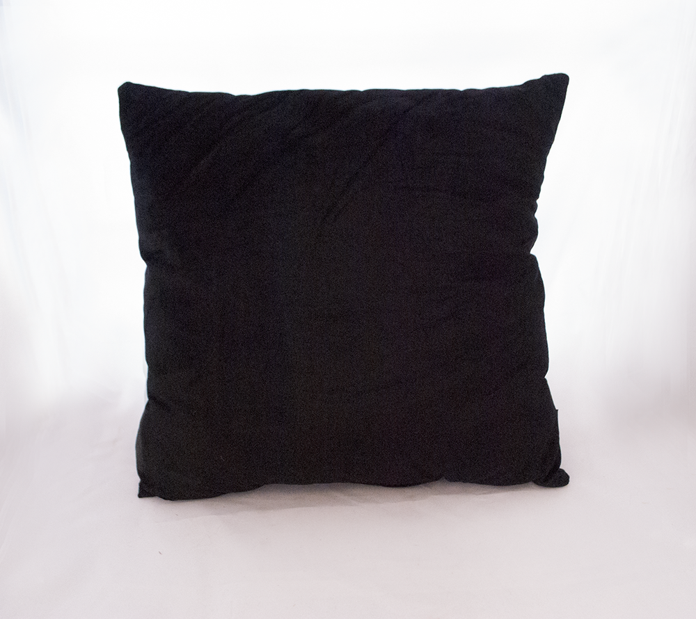 black plush pillow   Quantity: 2  Price: $10.00