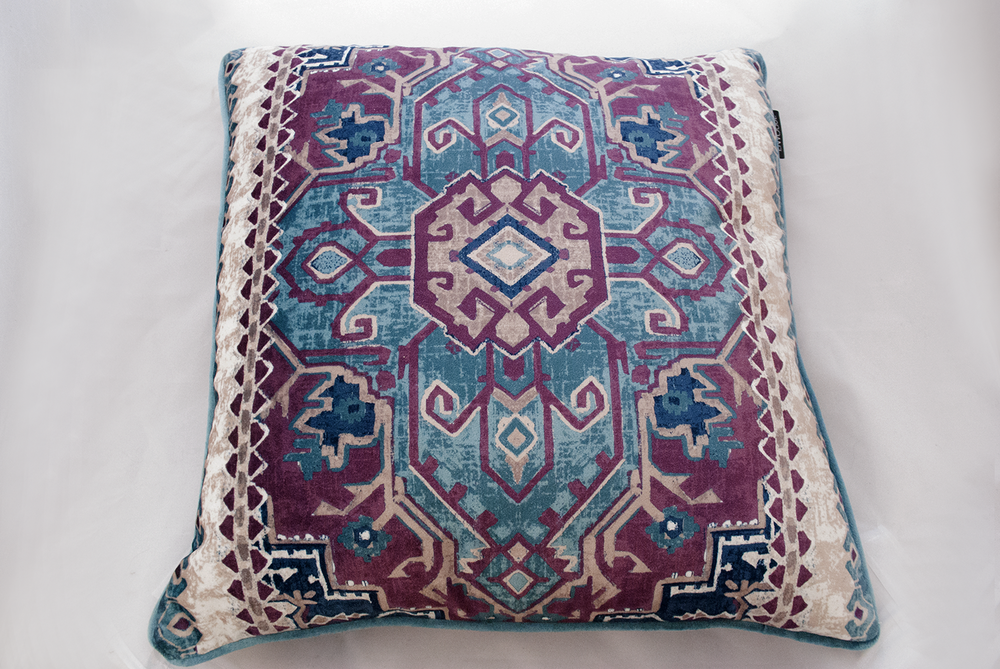 purple aztec pillow   Quantity: 2  Price: $10.00