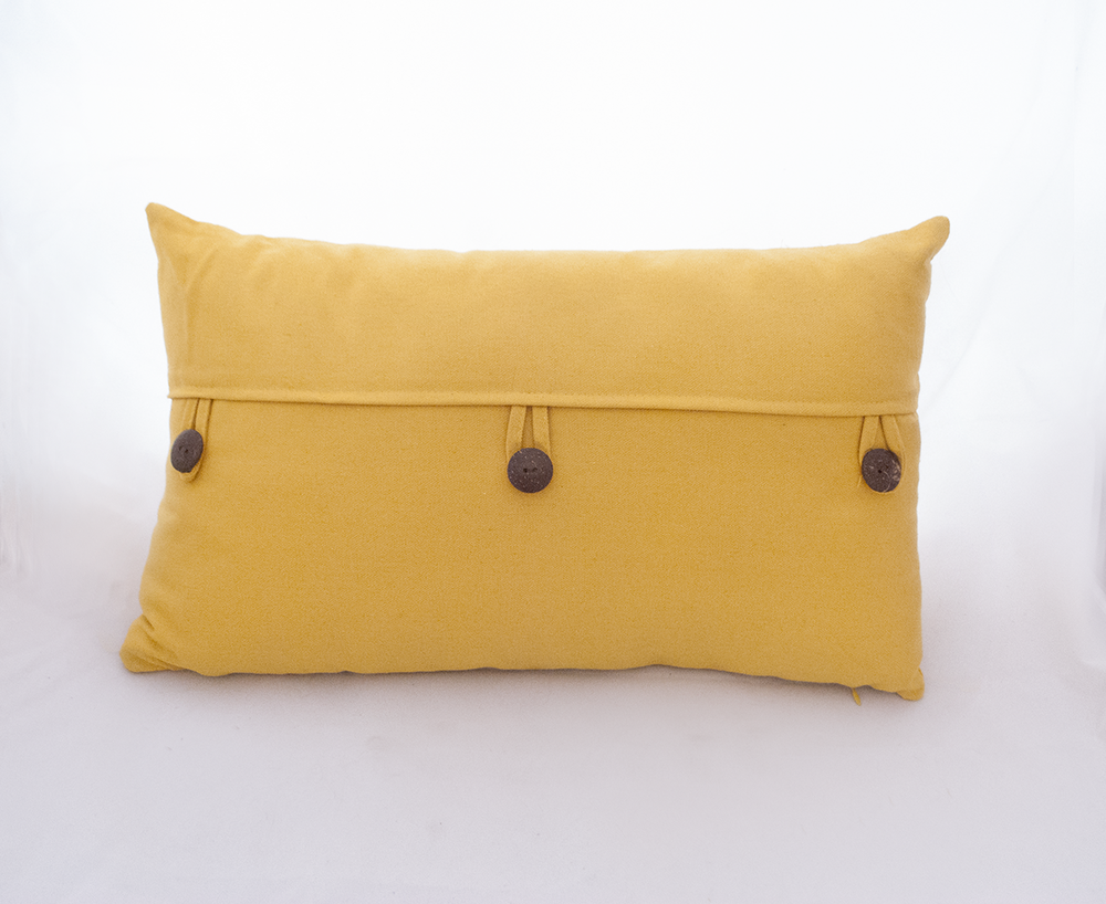 yellow button pillow   Quantity: 2  Price: $10.00