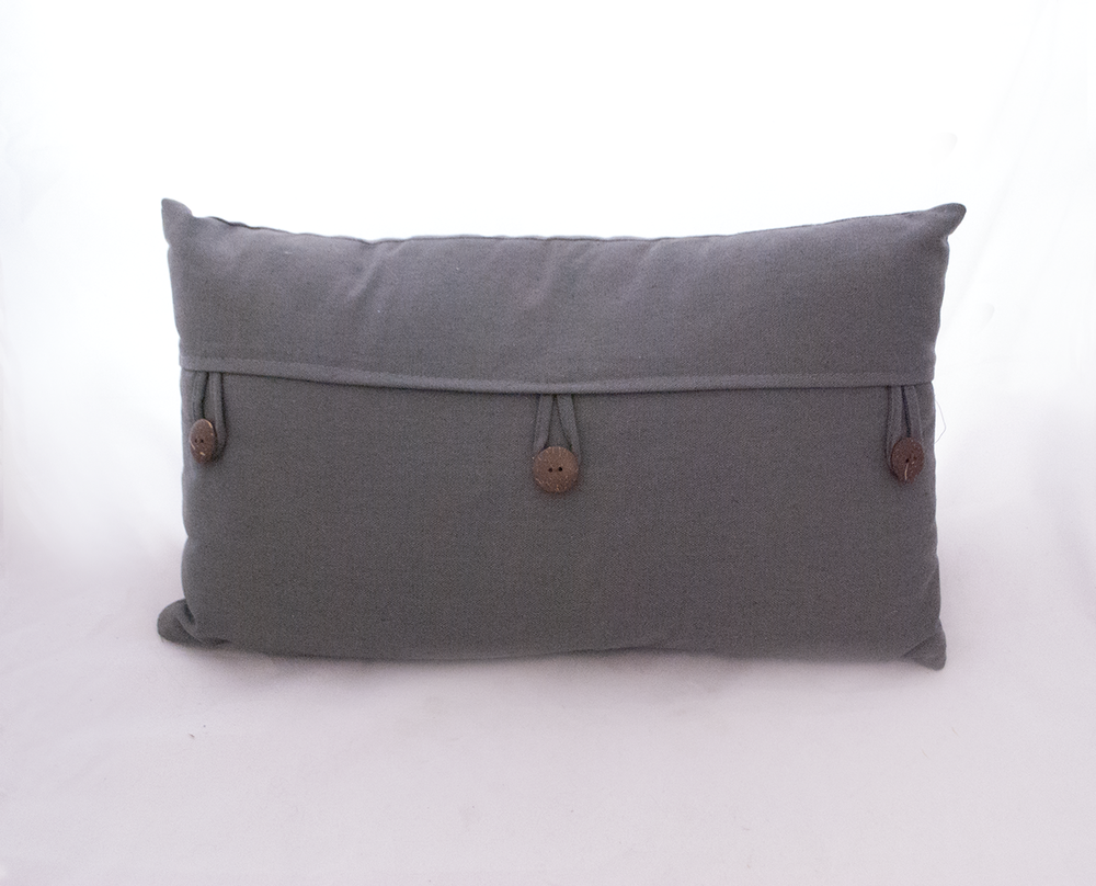 grey button pillow   Quantity: 2  Price: $10.00