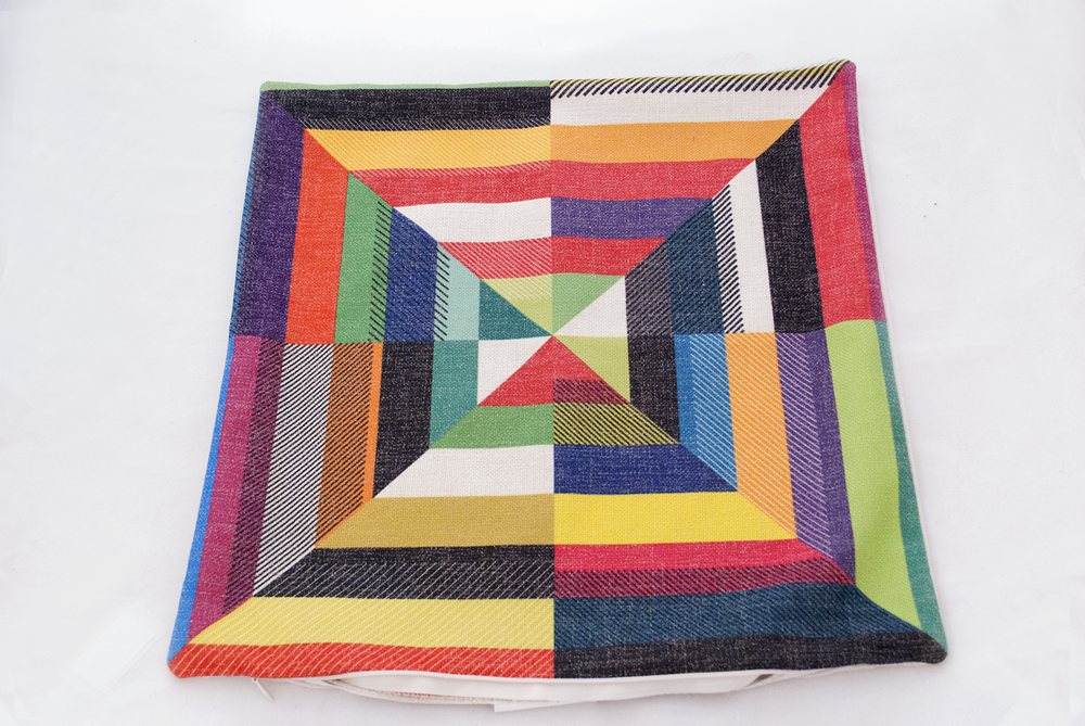 color block pillow   Quantity: 2  Price: $10.00