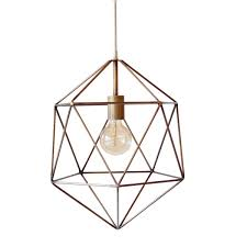 copper geo pendant light   Quantity:  Price:
