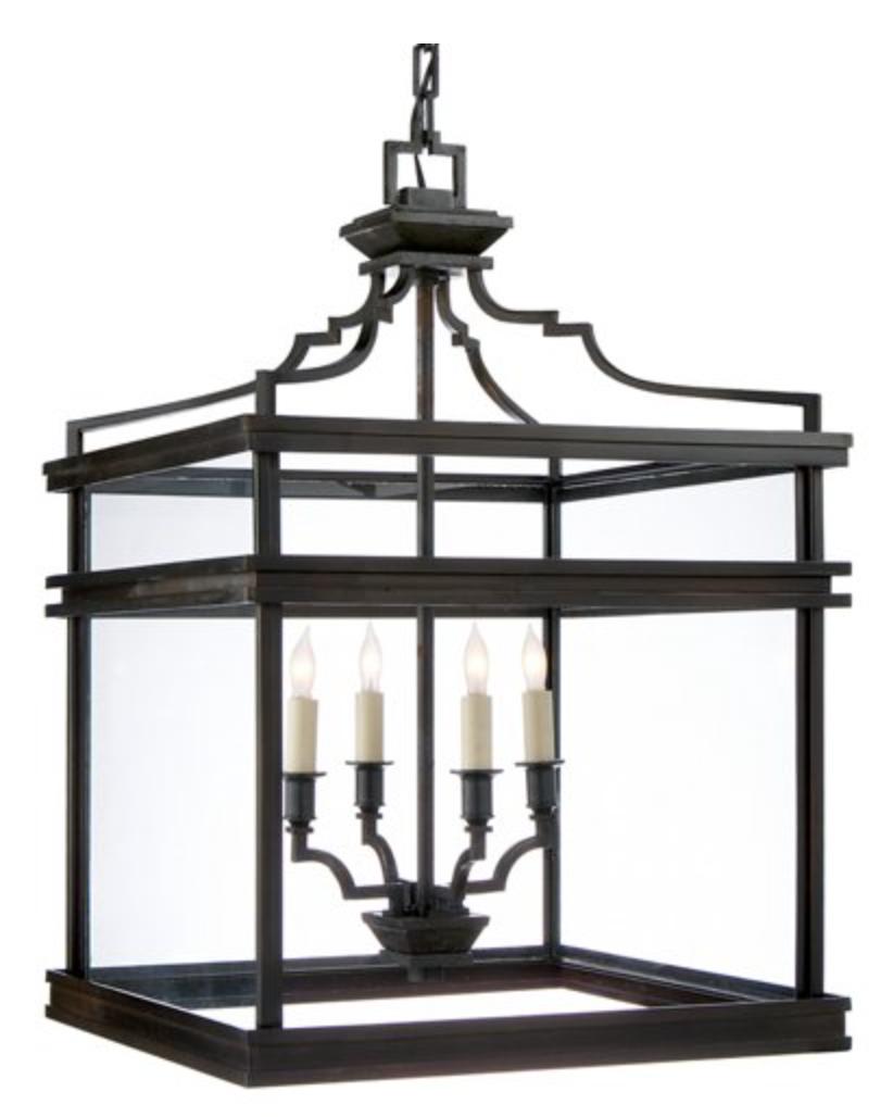Aged Iron Cubic Lantern