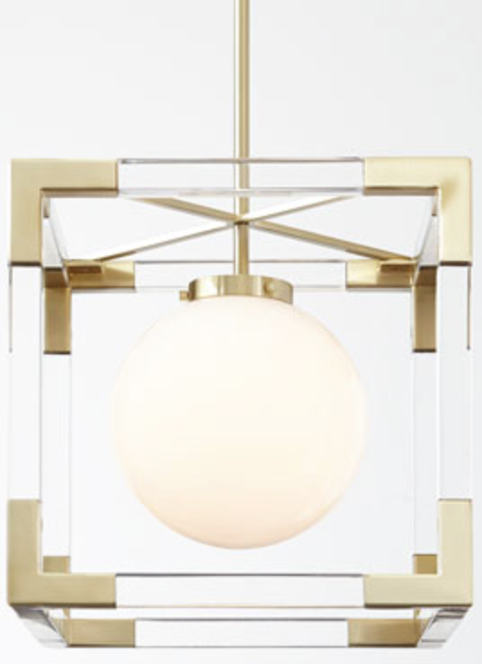 Jacques Two Light Cubic Chandelier