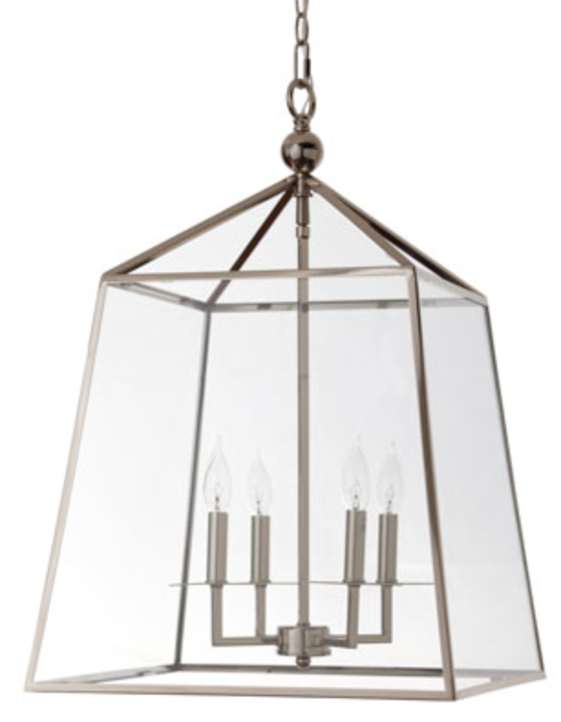 Square Four Light Glass Lantern