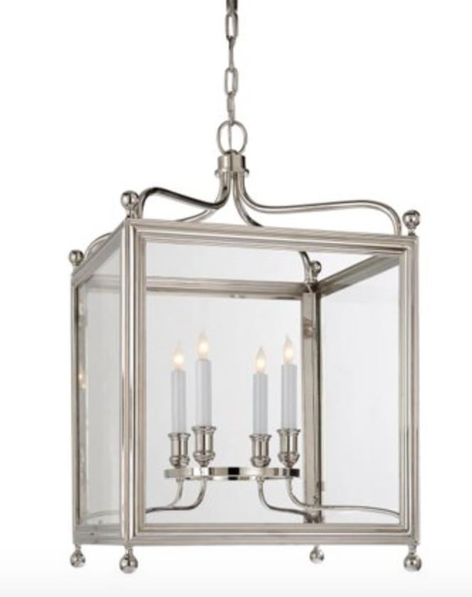 Medium Greggory Lantern in Nickel