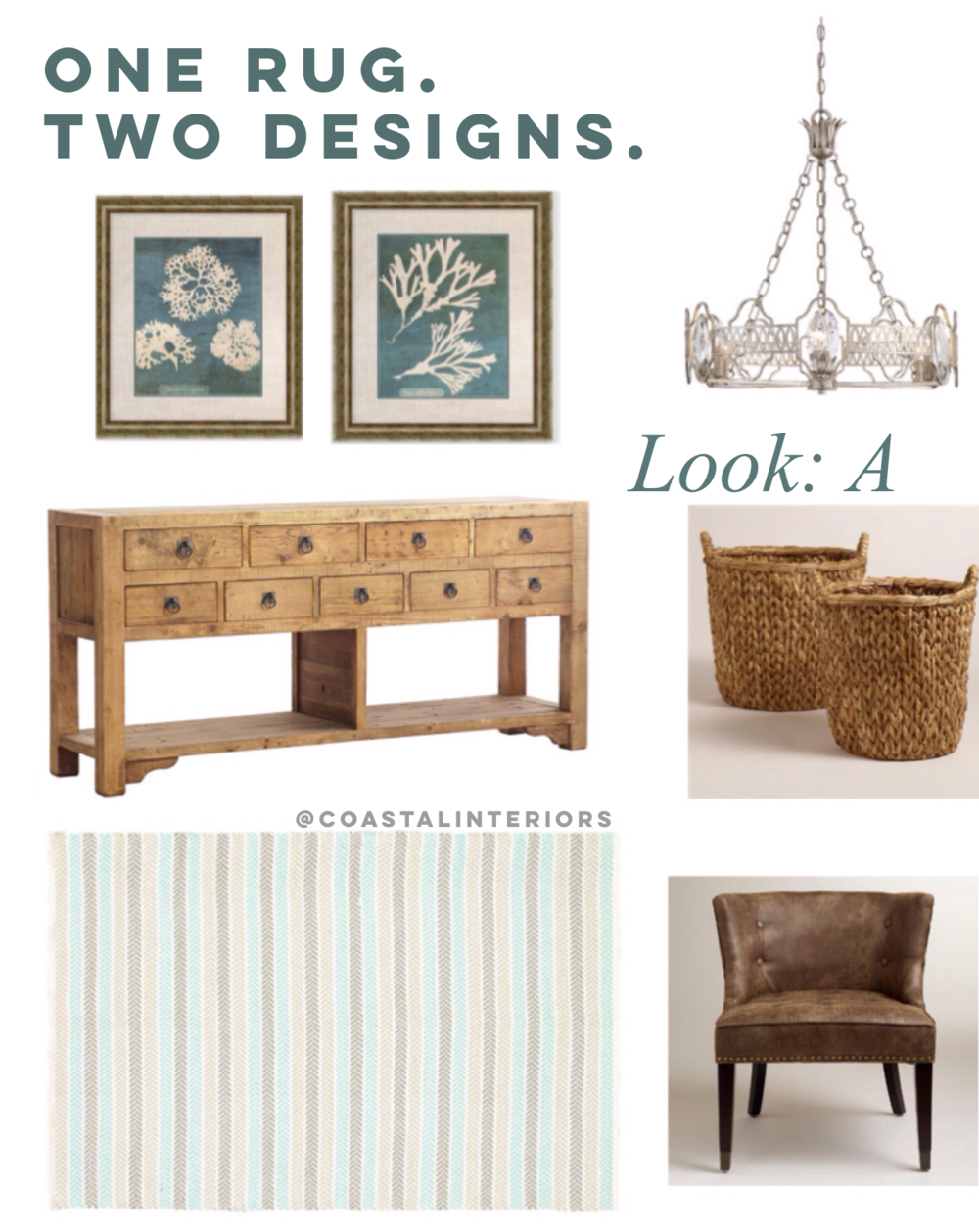 Coastal Entryway Design: One Rug, Two Looks!