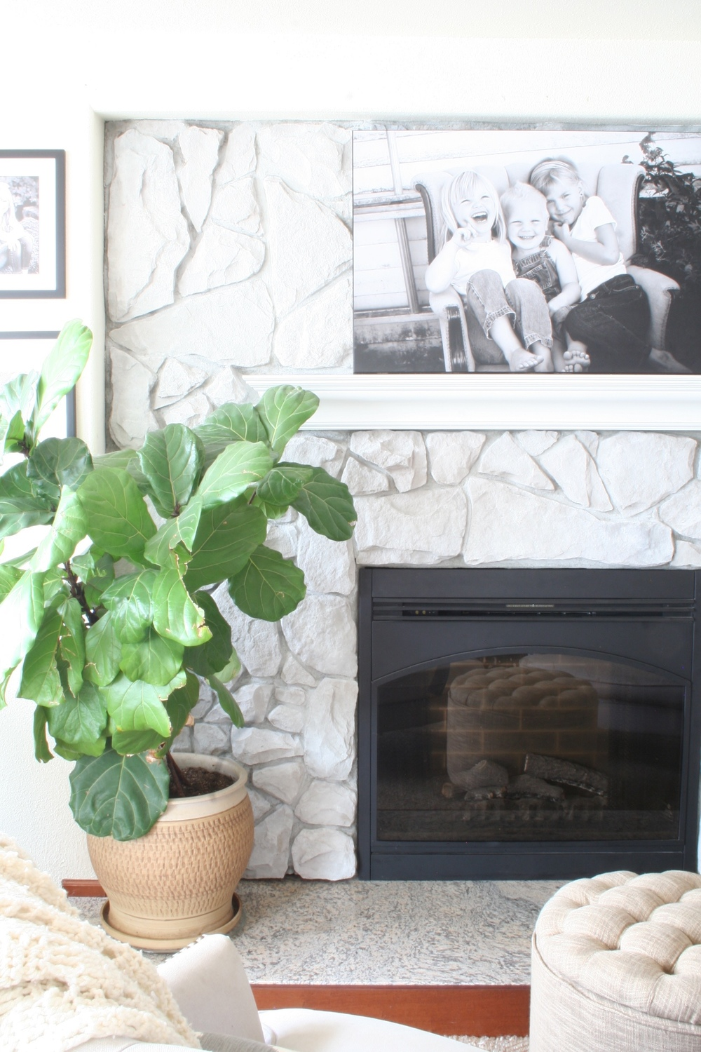 makeover how to coastal fireplace diy co whitewash stone collective blog