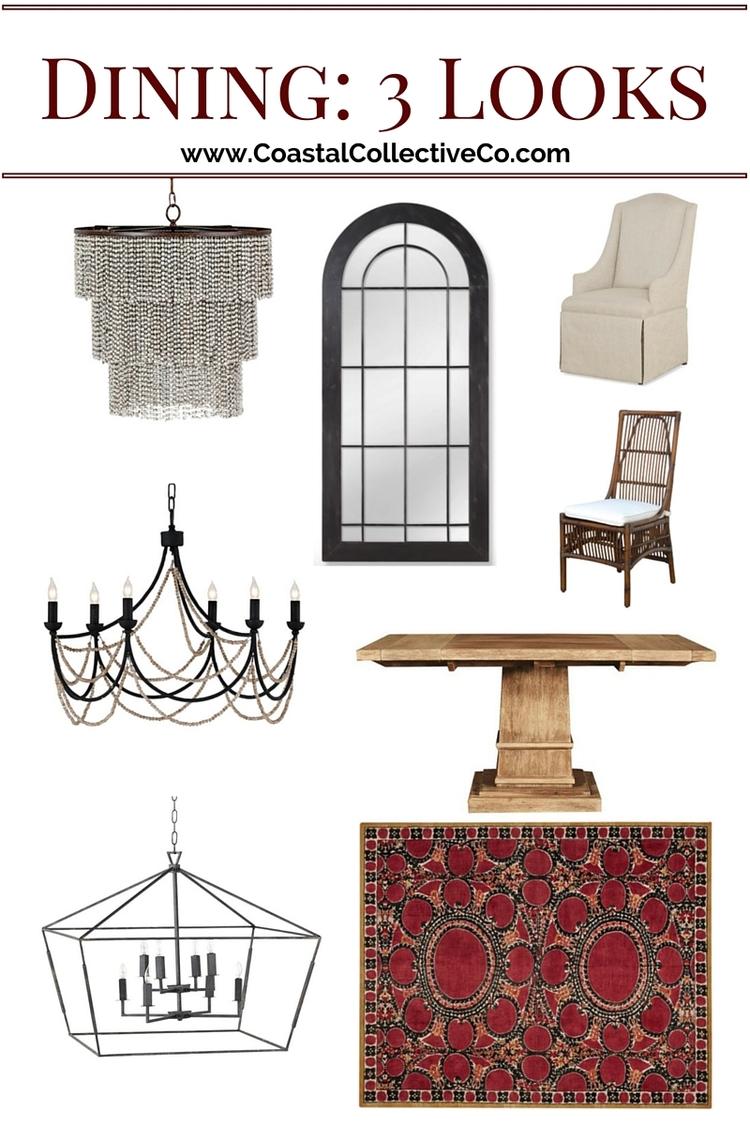Coastal Interiors Dining Room With Lighting Alternatives
