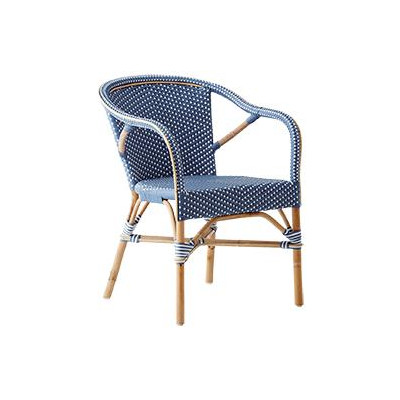 Blue And White Cafe Bistro Chair