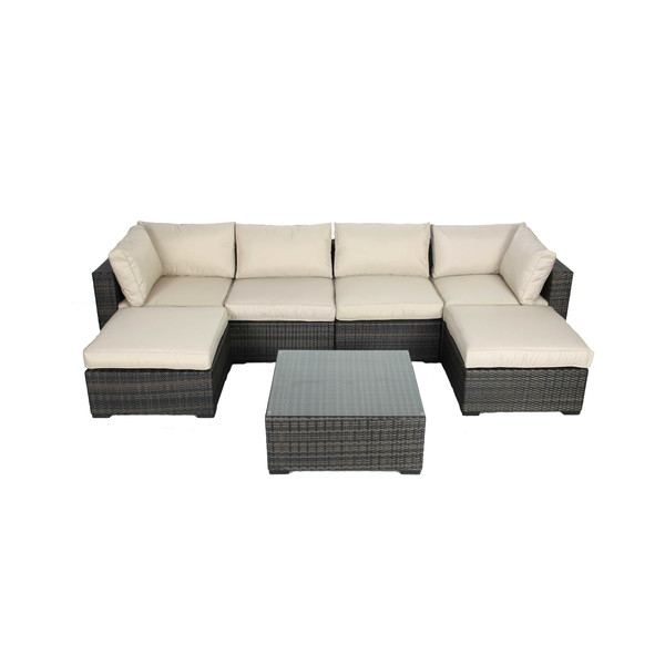 Perfect Summer Patio Sectional with ottomans
