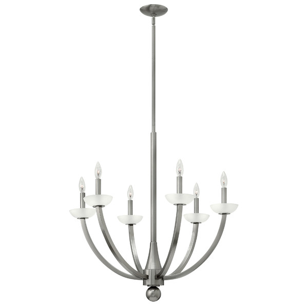 6-Light Silver Coastal Chandelier