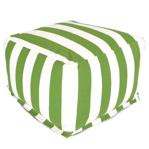 Morgan Indoor Outdoor Striped Pouf Ottoman