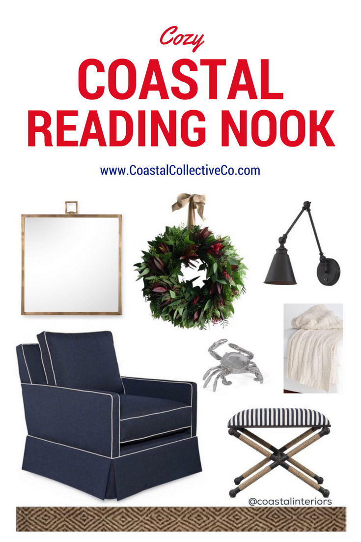 Cozy Coastal Reading Nook for the Holidays