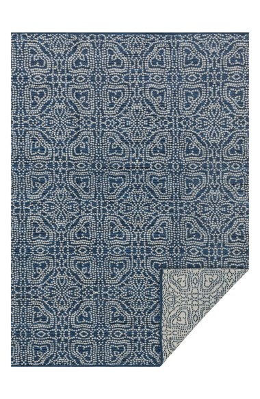 Navy Blue Magnolia Area Rug