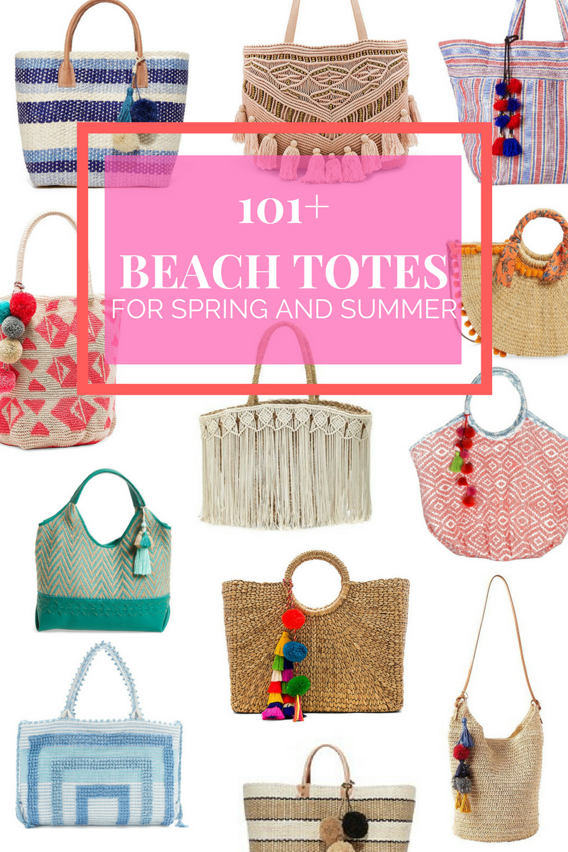 100+ Beach Bags and Totes for Spring and Summer 2017