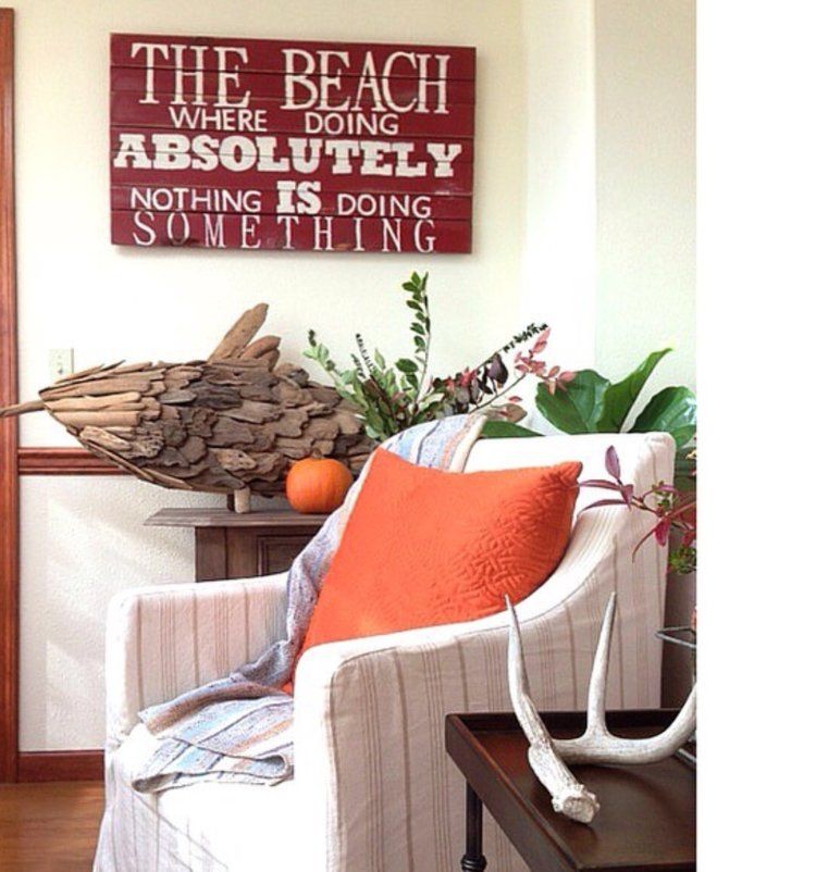 Driftwood home decor coastal collective co beach house driftwood fish and sign teraionfo
