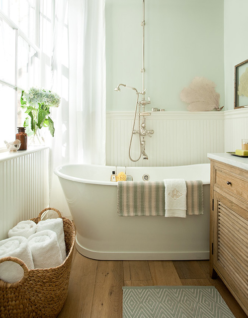 Coastal Bathroom with Sea Fan