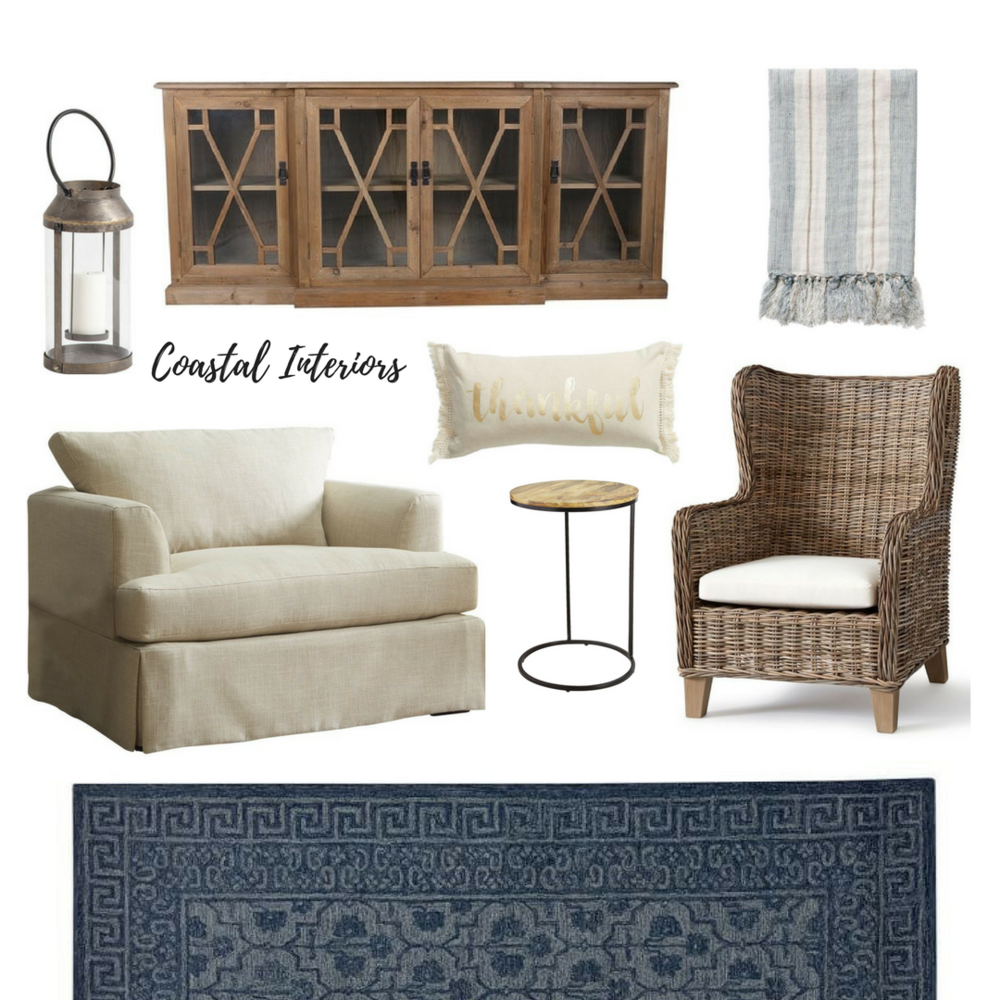 Neutral and Navy Living Room eDesign — Coastal Collective Co.