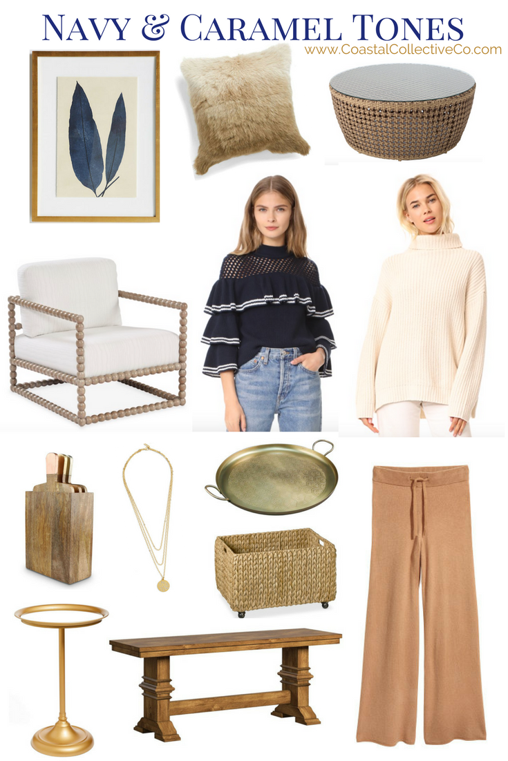 Navy and Caramel Style and Home