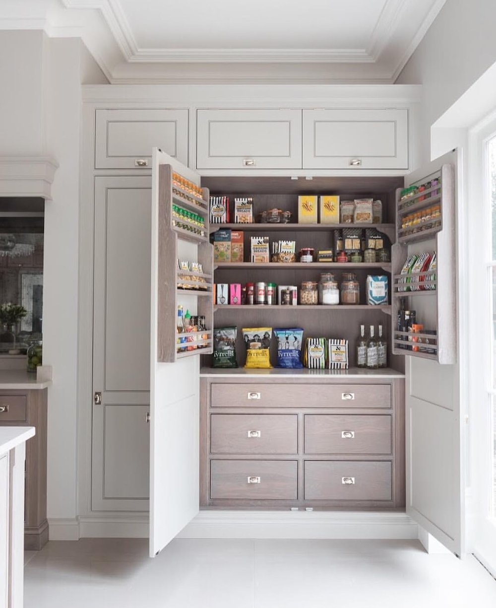 Gray Pantry Organization by Humphrey Munson