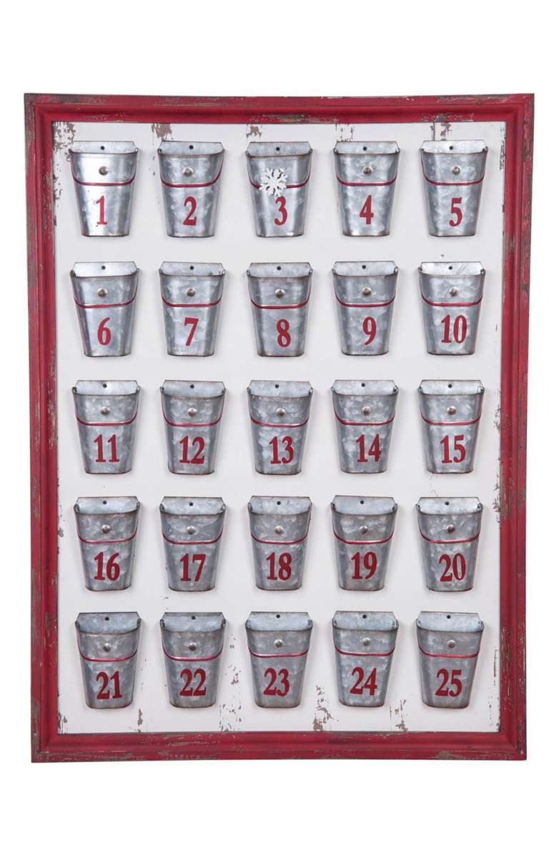 Galvanized Bucket Advent Calendar
