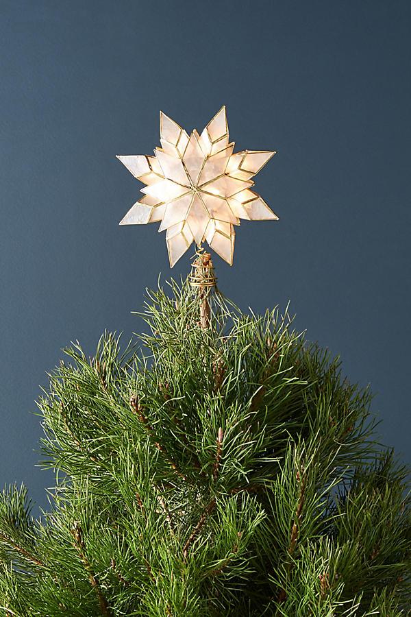 Capiz Star Light Up Christmas Tree Topper