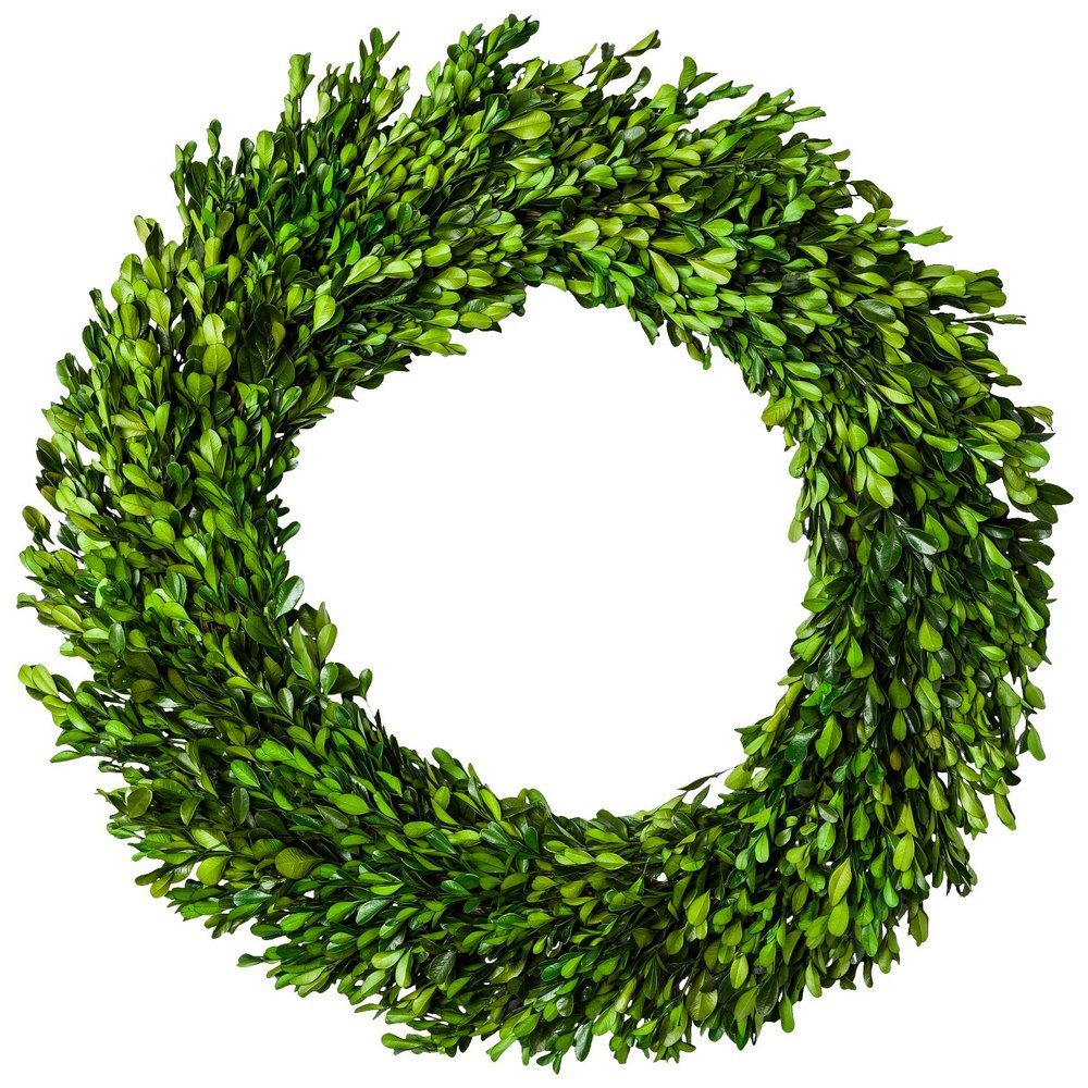 Preserved Boxwood Leaves Wreath