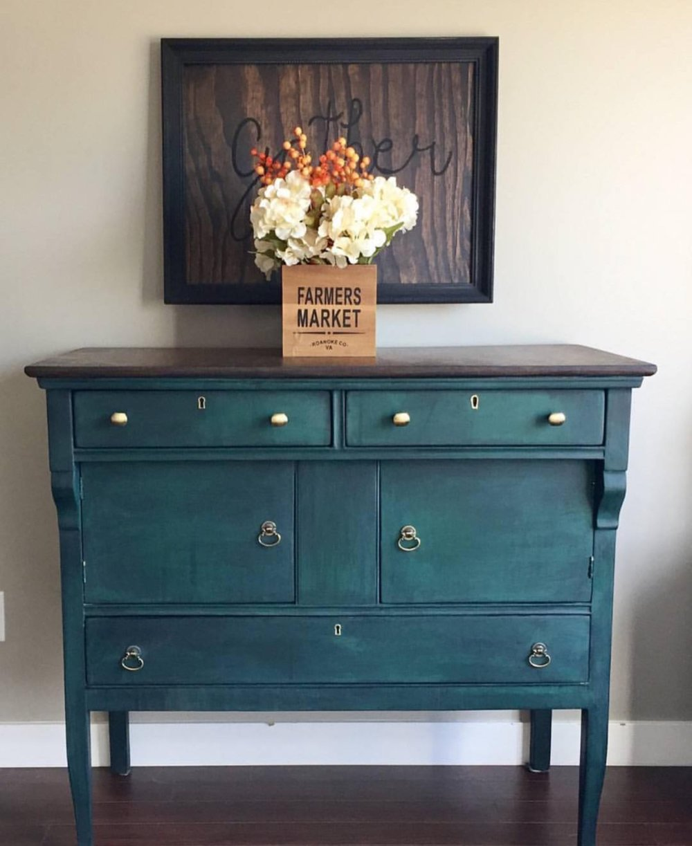 Teal Painted Dresser