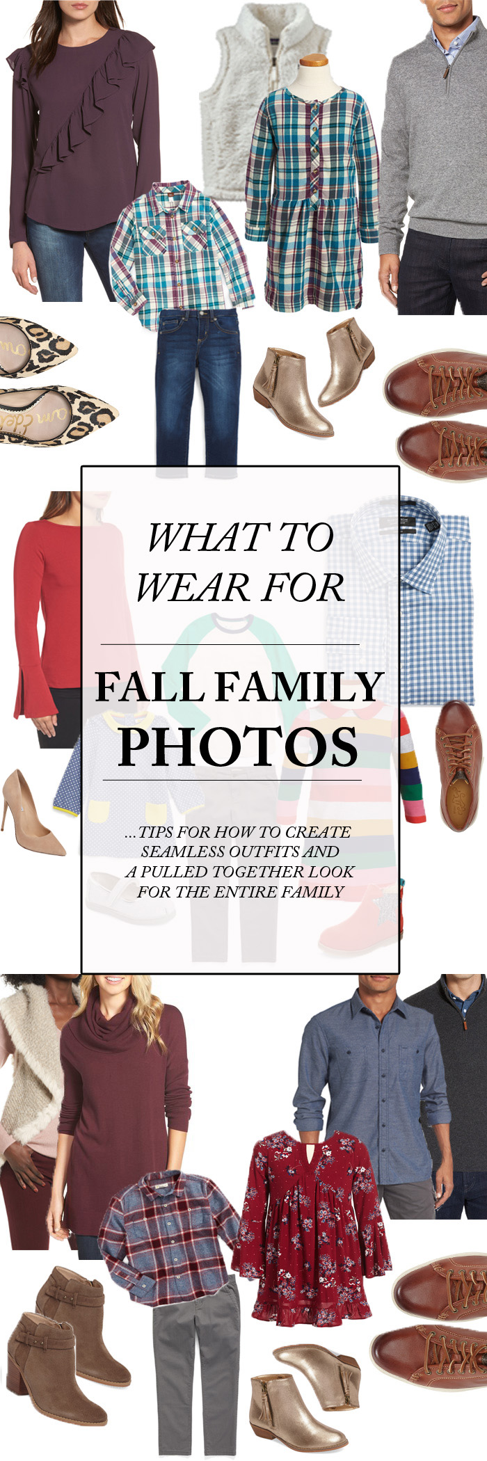 What To Wear For Family Photos - family photo style ideas