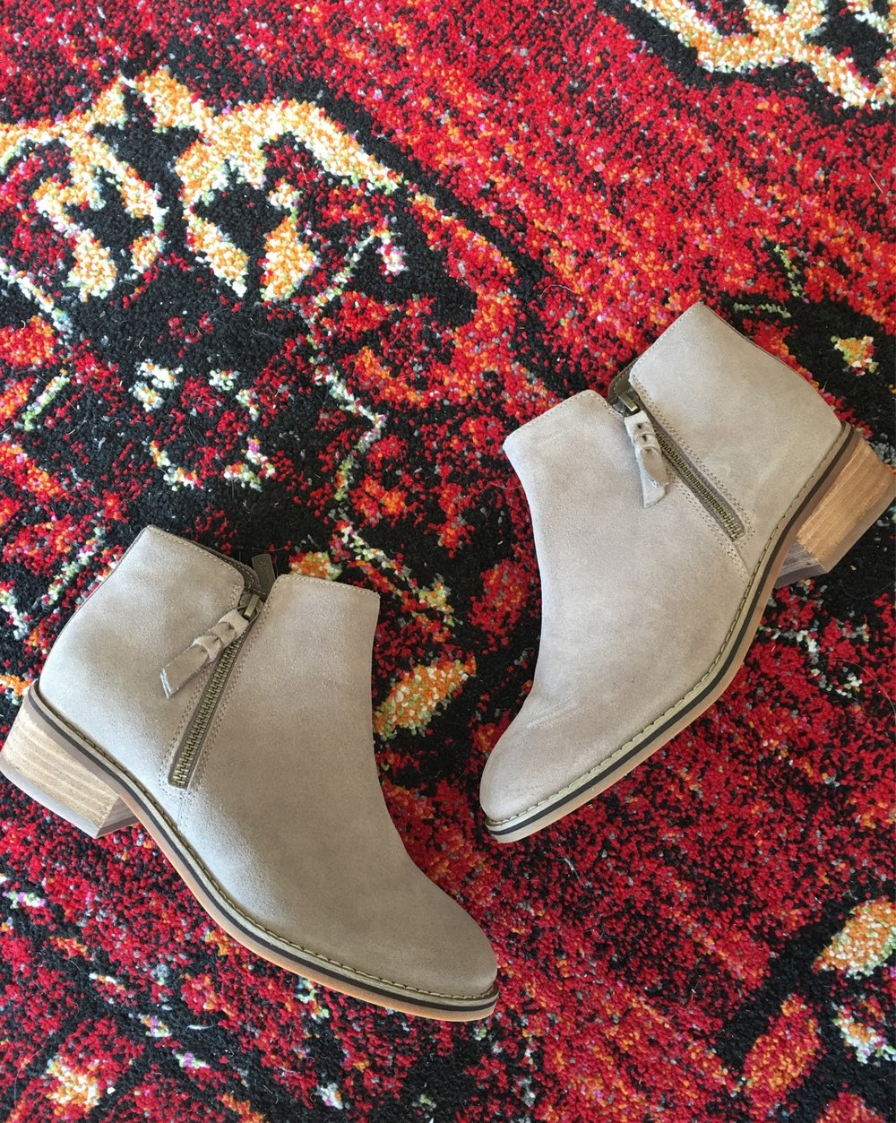Tan Suede Waterproof Ankle Boots