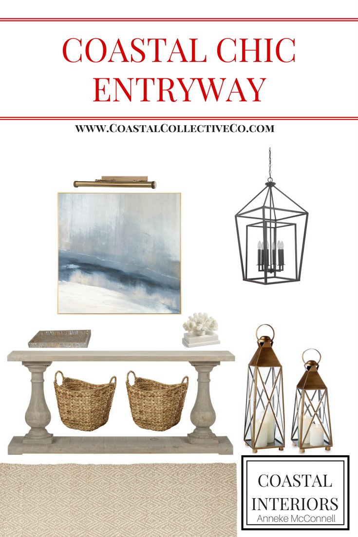 Coastal Chic Entryway Design
