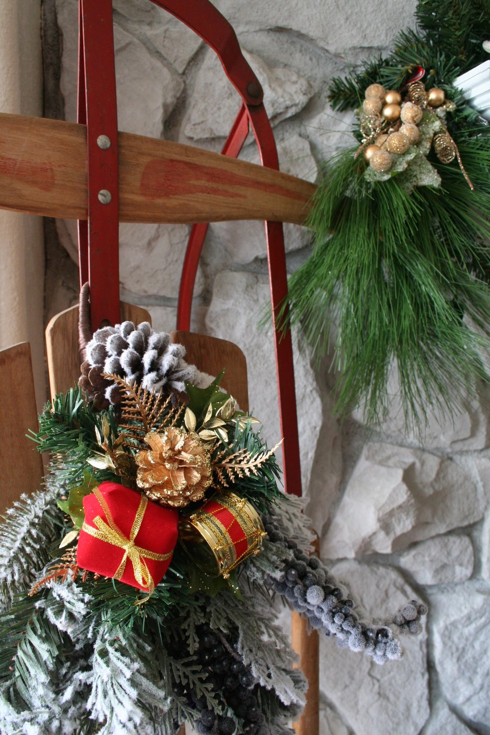 Coastal Christmas Mantle Idea