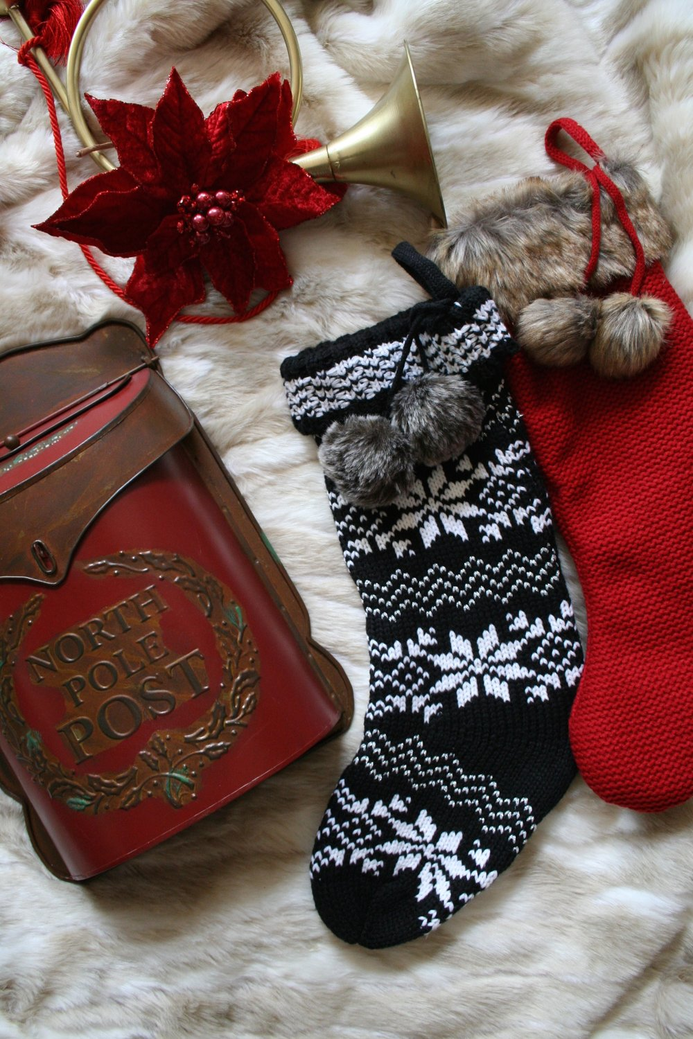 Christmas Stockings and Santa Post Box
